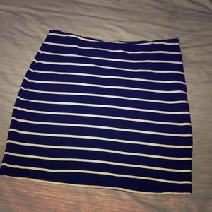 Navy and white Banana Republic skirt - sz 8